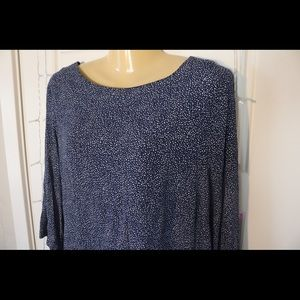 H&M NAVY and WHITE Blouse Size 10